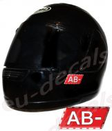 Helmet AB- Blood Type Unscratchable 3D Decal