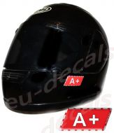 Helmet A+ Blood Type Unscratchable 3D Decal