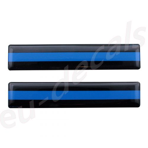 THIN BLUE LINE License Plate Decals Stickers USA Police Trooper 3D Decal Domed bumper sticker car sign