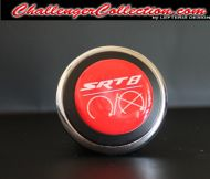 3D Decal cover for the Start/Stop Button -RED SRT8 - For the 2008 and Up  Dodge Challenger
