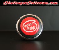 3D Decal cover for the Start/Stop Button - RED / WHITE hemi inside  - For the 2008 and Up  Dodge Challenger