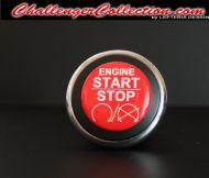 3D Decal cover for the Start/Stop Button - RED ENGINE START/STOP   - For the 2008 and Up  Dodge Challenger