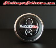 3D Decal cover for the Start/Stop Button -  BLACK with White/Red SRT8 - For the 2008 and Up  Dodge Challenger