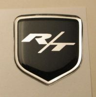 fits Dodge Avenger 2011 and Up - Steering Wheel Badge 3D Decal sticker R/T BLACK / CHROME