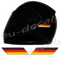 Helmet German Germany Flags 3D Decals Set Left and Right