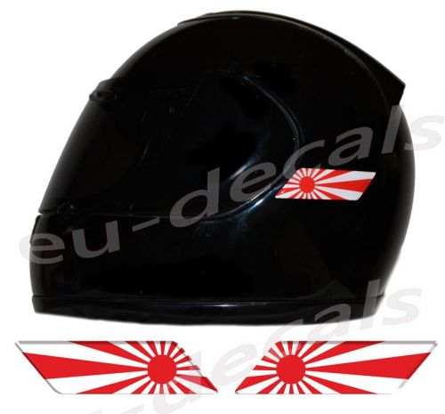 Helmet Japan Rising Sun Flags 3D Decals Set Left and Right