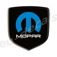 Steering Wheel 3D Decal badge – BLACK / WHITE / BLUE with M and mopar logo - For the 2008-2010 Dodge Challenger