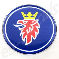 75mm/2.95inc SAAB 900 NG models without decor panel  Blue Griffin Rear Badge Emblem 3D decal