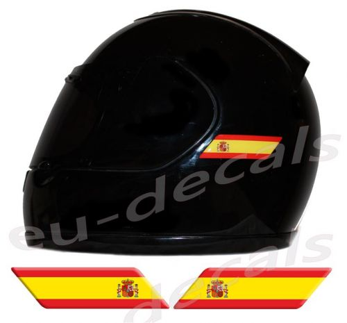 Helmet Spain Spanish Flags 3D Decals Set Left and Right