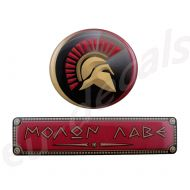 Oval Spartan Helmet and Red MOLON LABE