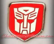 Nose 3D Decal badge – RED / CHROME with Autobot Transformers logo  - For the 2008 and Up  Dodge Challenger