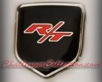 Steering Wheel 3D Decal badge – RED / BLACK / CHROME with R/T - For the 2008-2010  Dodge Challenger
