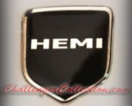 Nose 3D Decal badge –   BLACK / CHROME with HEMI - For the 2008 and Up  Dodge Challenger