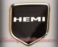 Steering Wheel 3D Decal badge – BLACK / CHROME with HEMI - For the 2008-2010  Dodge Challenger