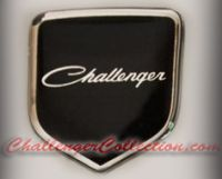 Steering Wheel 3D Decal badge - BLACK / CHROME with old style Challenger - For the 2008-2010  Dodge Challenger