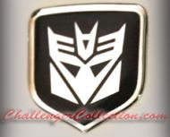 Nose 3D Decal badge – BLACK / CHROME with Decepticon Transformers logo  - For the 2008 and Up  Dodge Challenger