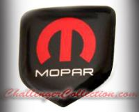 Steering Wheel 3D Decal badge - RED / WHITE / BLACK with M and Mopar logo   - For the 2008-2010  Dodge Challenger