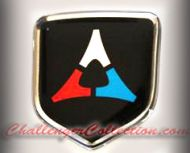 Nose 3D Decal badge – BLACK / CHROME / RED / BLUE with Fratzog, used 1962–1975 logo   - For the 2008 and Up  Dodge Challenger