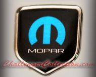 Nose 3D Decal badge – BLACK / CHROME / BLUE with M and mopar logo   - For the 2008 and Up  Dodge Challenger