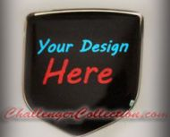 fits Dodge Avenger 2007 and up  Set of 2 - Front Nose Emblem 3D Decal badge – Your Unique Custom Design with any logo you like