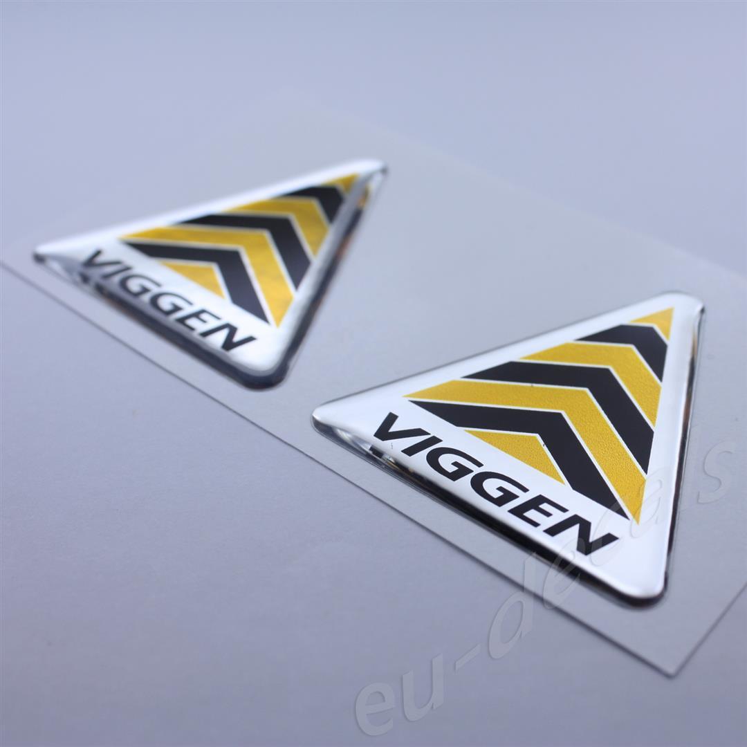 2X SAAB Viggen Wing Fender Black Yellow Chrome Badge Emblems 9-3 3D decal 93